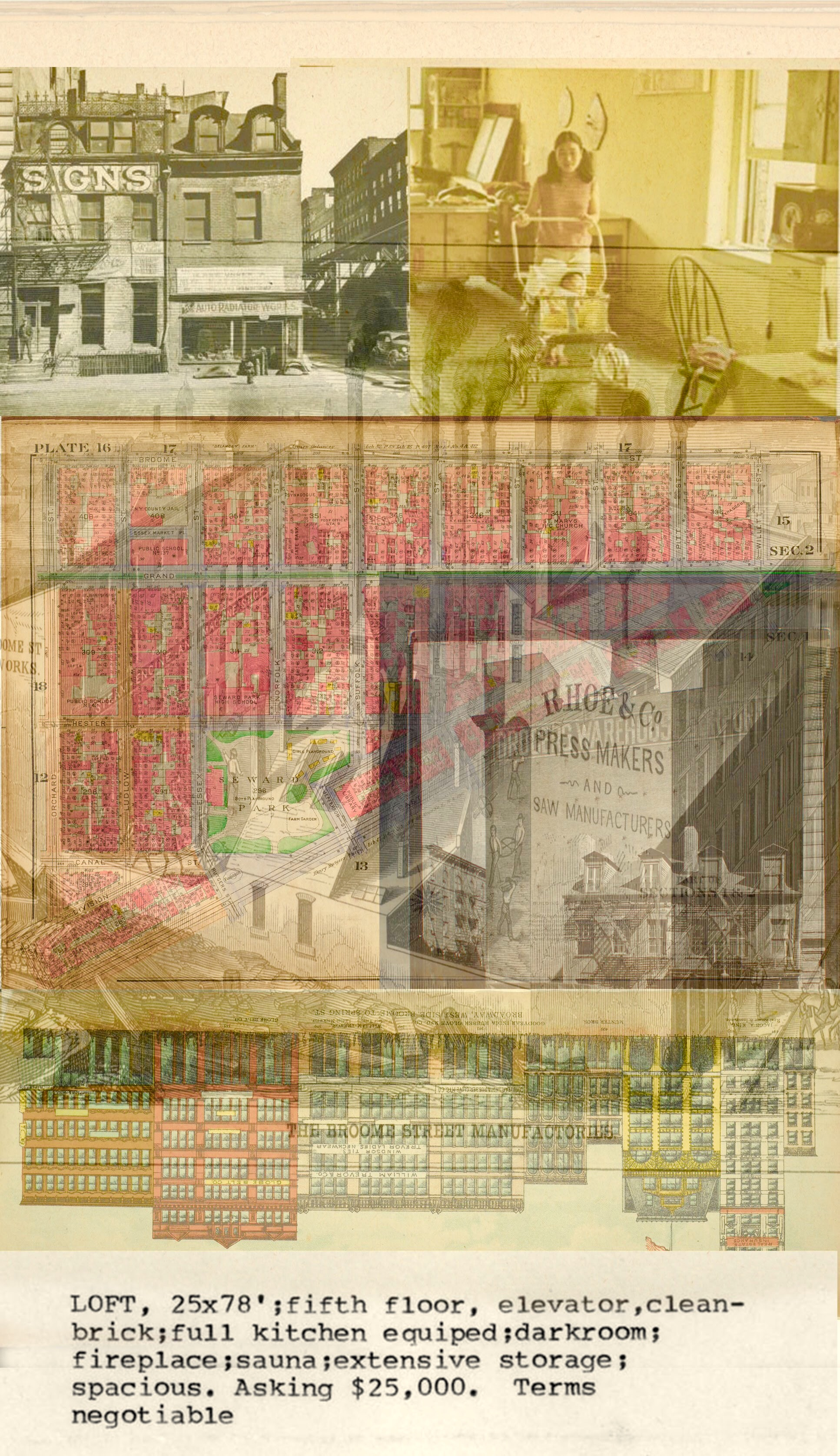 SOHO Digital Collage, NYPL Digital Archives